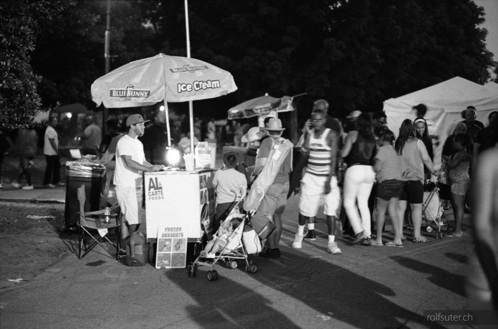 Ice cream at the Atlanta Jazz Festival in Piedmont park