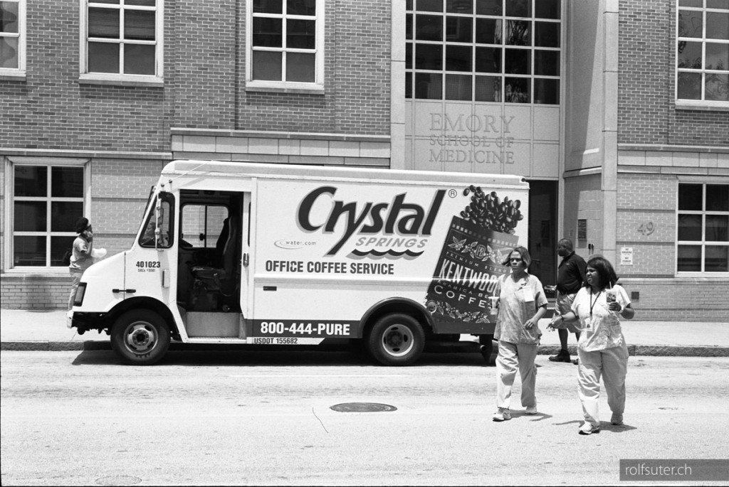 Crystal delivery truck