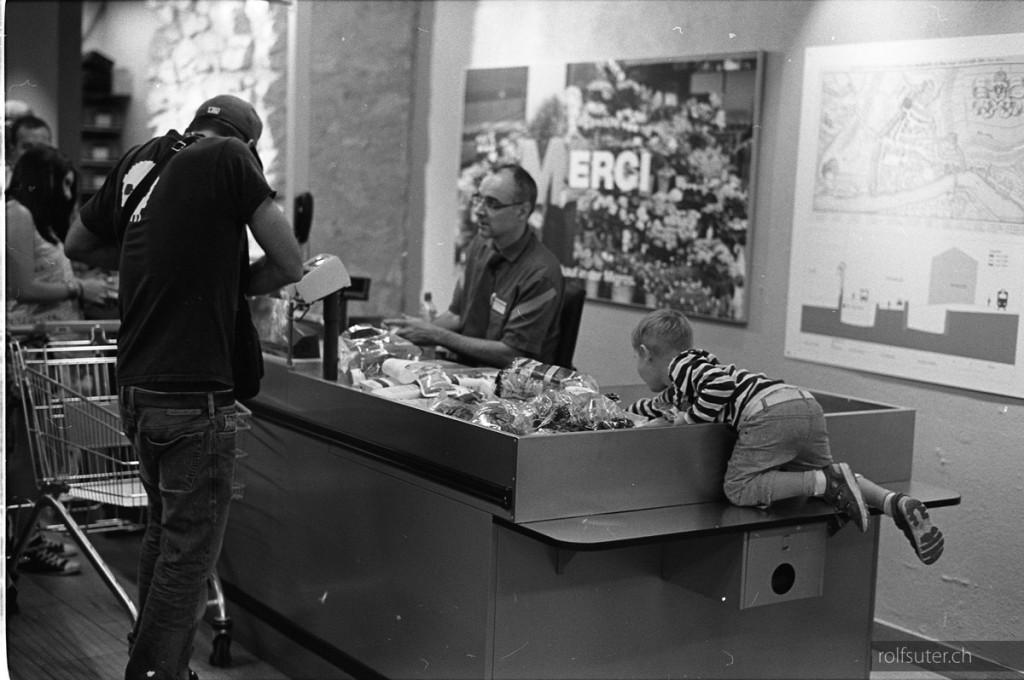 Shopping at Migros, Schaffhausen