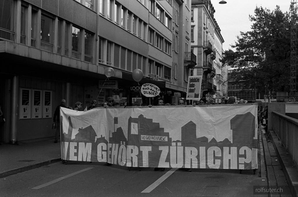 """Demonstration """"Wem gehört Zürich?"""""""
