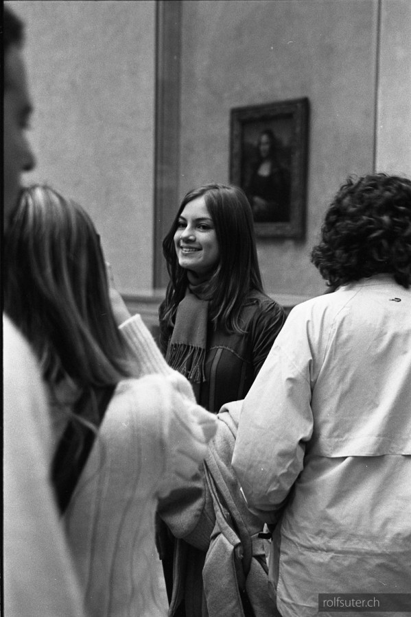 Lisa's smile at the Louvre in Paris
