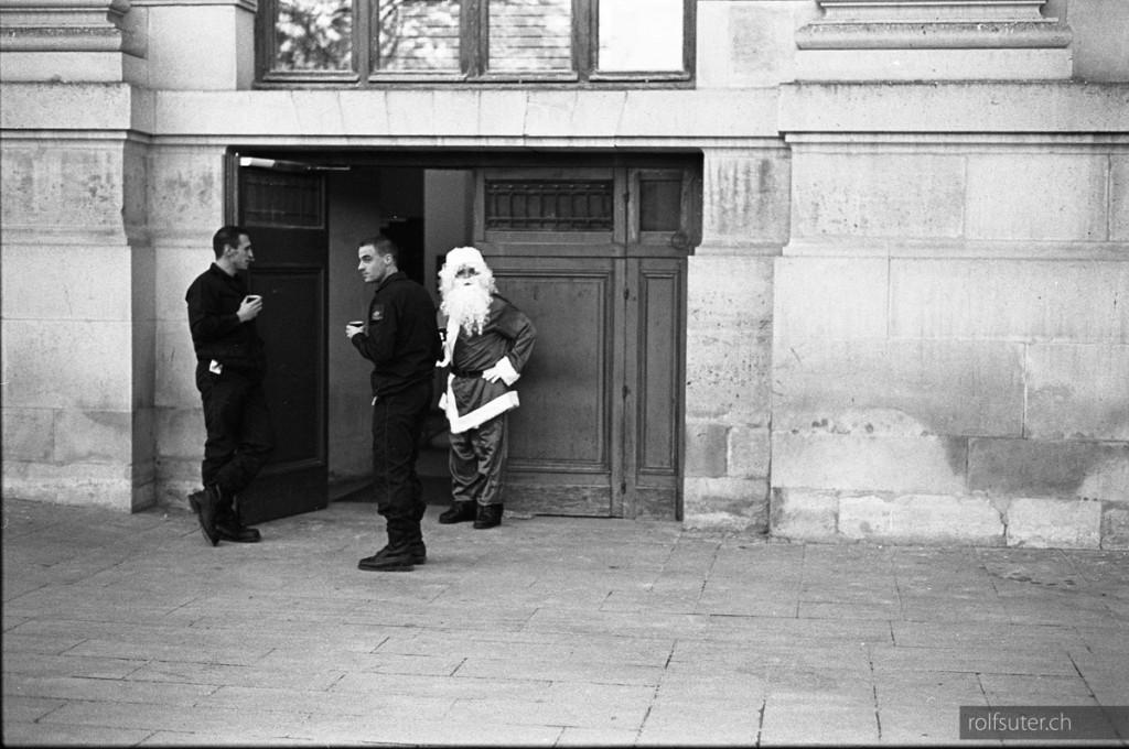 Santa Claus takes a break