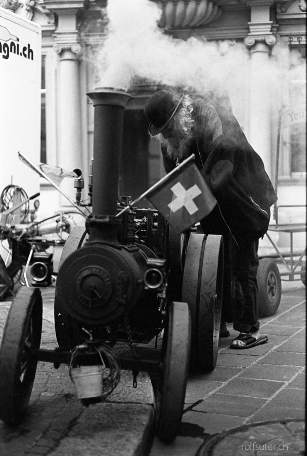 Steam tractor in Schaffhausen