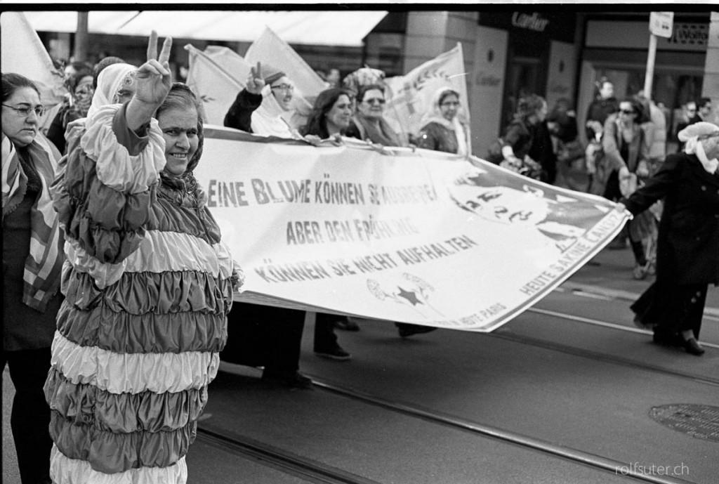 Demonstration in Zürich