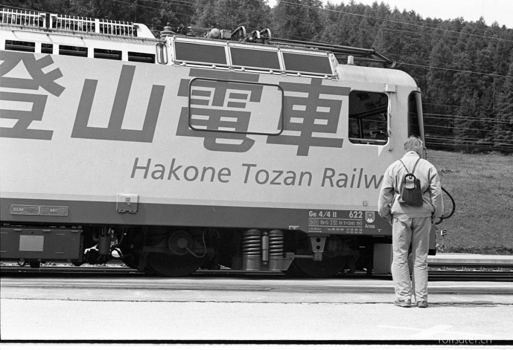 Hakone Tozan Railway, Japan? Rhätische Bahn in Pontresina!