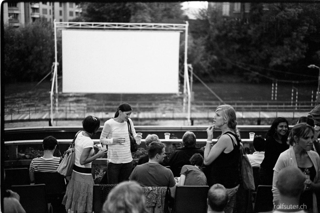 At the Freiluftkino Filmfluss in Zürich