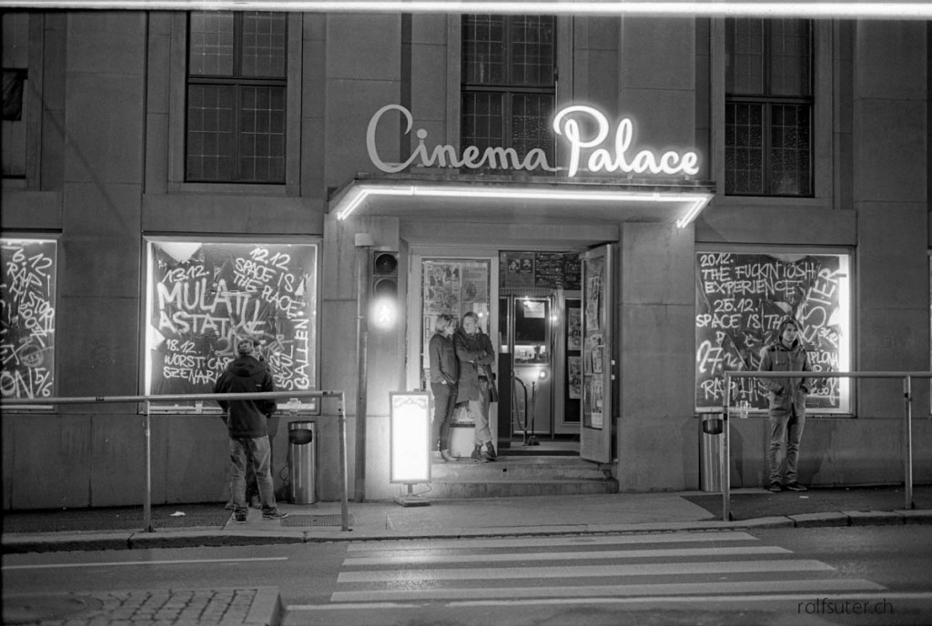 Cinema Palace in St. Gallen by night