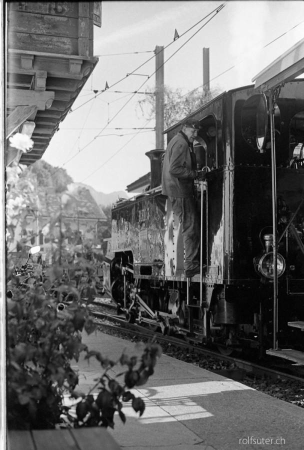 Steam locomotive at Chamby