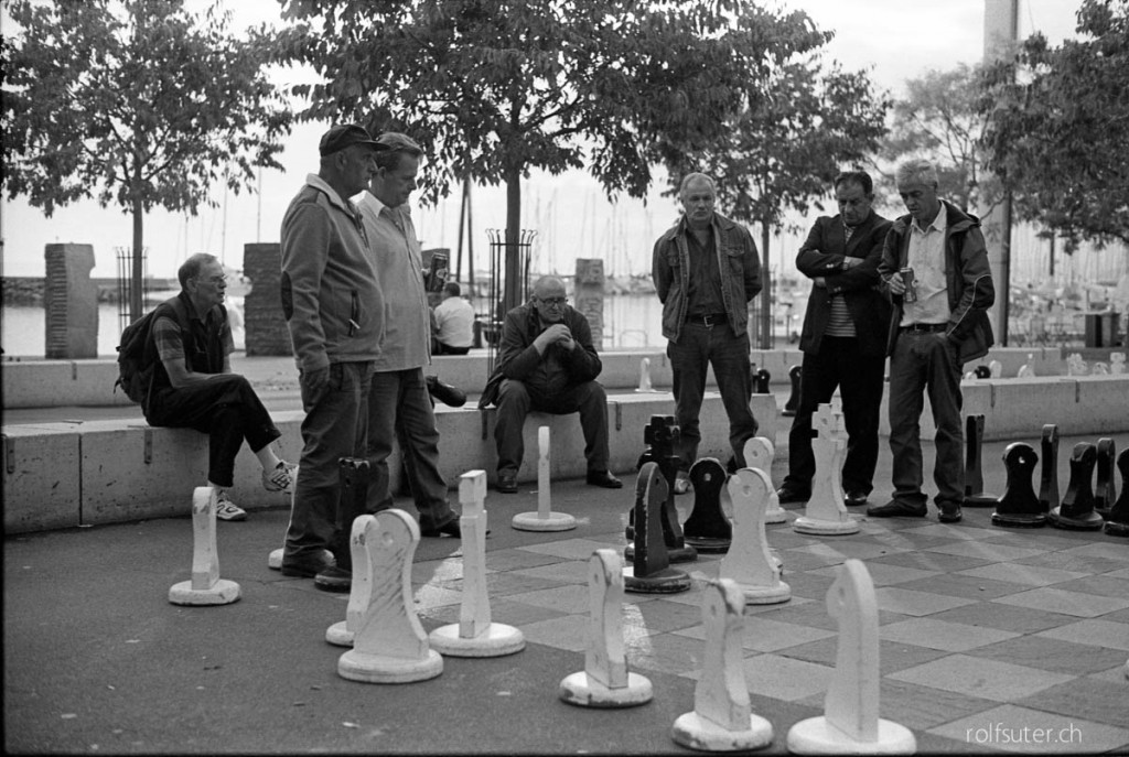 Playing chess at Lausanne Ouchy