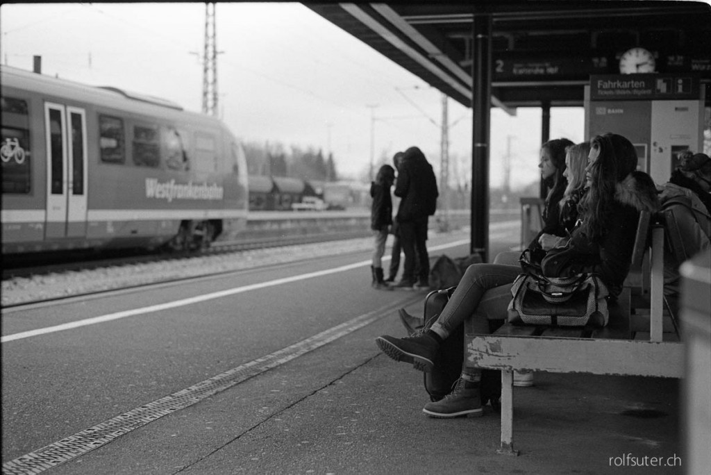 Waiting for the train in Crailsheim