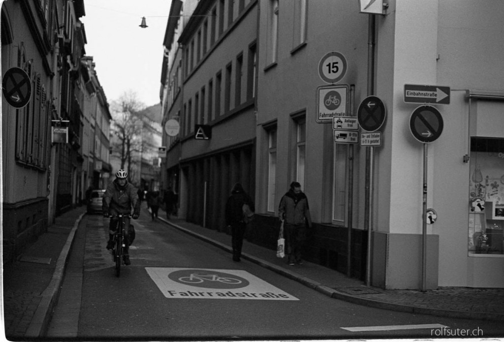 Cycle street in Heidelberg