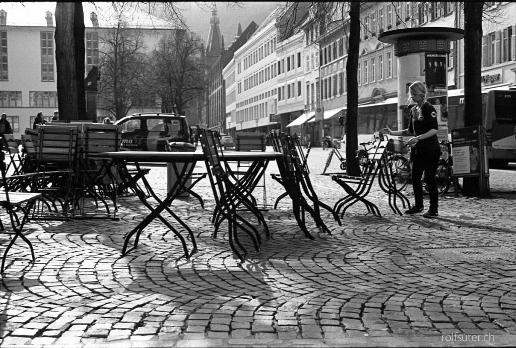 Street restaurant in Heidelberg