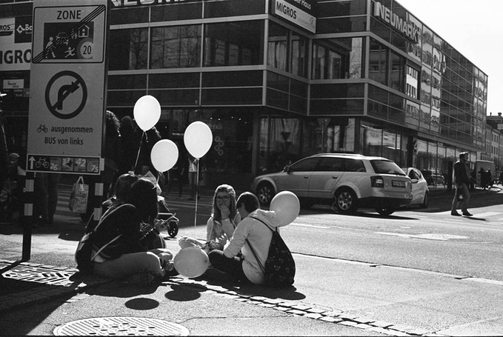 Hanging around with some balloons, St. Gallen