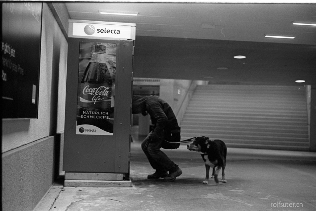 Vending machine in the underpass at the train station St. Gallen