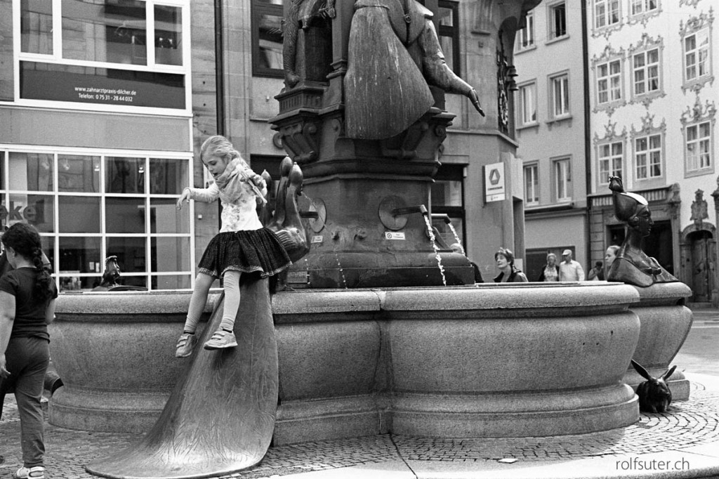 Having fun at the fountain, Konstanz
